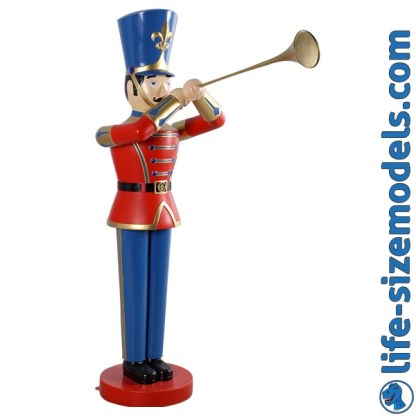 Toy Soldier 6ft Figure 3D Realistic Christmas Prop
