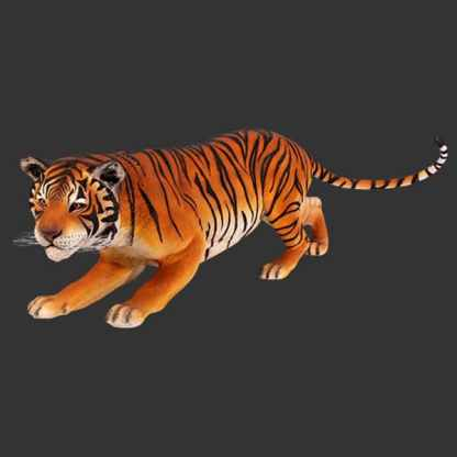 Bengal Tiger 3D Realistic Life Size Wild Animal Statue