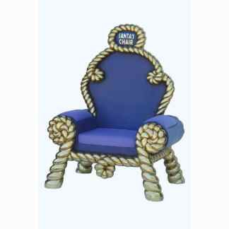 Purple & Gold Throne 3D Realistic Santa Christmas Chair Prop