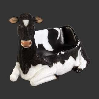 Cowch Statue 3D Realistic Lifesize Cow Seat