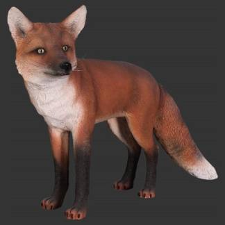 Red Fox Statue 3D Realistic Life Size Wild Animal Model