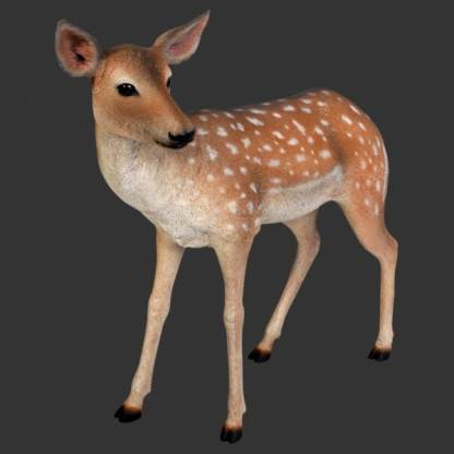 Fallow Deer Statue 3D Realistic Wild Animal Model