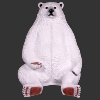 Sitting Polar Bear Jumbo 3D Realistic Prop Model