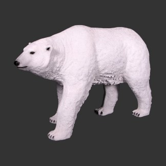Polar Bear Walking Stance 3D Realistic Lifesize Wild Animal Statue