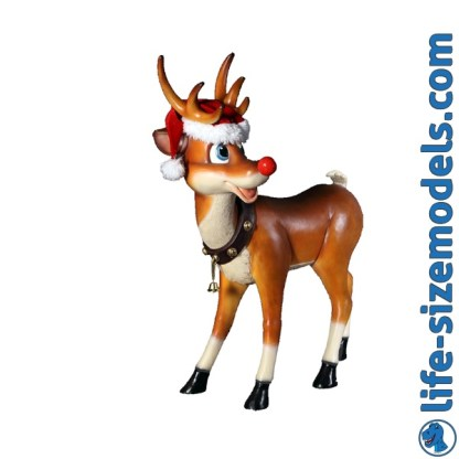 Funny Reindeer Standing 3D Realistic Lifesize Christmas Model