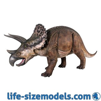 Triceratops Statue Lifesize Realistic Dinosaur Model