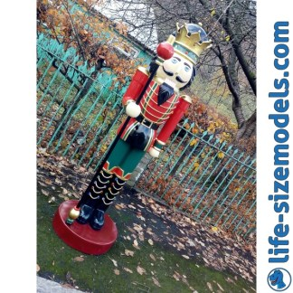 Nutcracker King WIth Sceptre 6.5ft Christma Figure