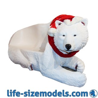 Christmas Polar Bear Seat 3D Realistic Lifesize Christmas Model