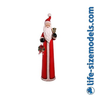 Skinny Santa 6ft Figure 3D Realistic Lifesize Christmas Model