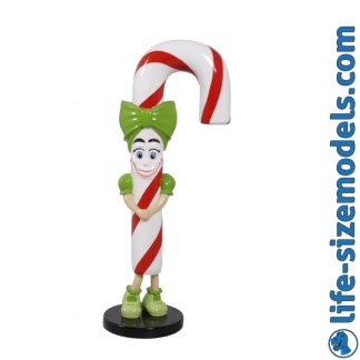 Candy Cane Lizzy Figure 3D Realistic Lifesize Christmas Model