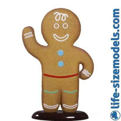 Gingerbread Boy Figure 3D Realistic Christmas Model