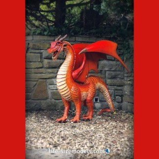 Red Dragon Figure (Small) Realistic Myth & Magic Figure