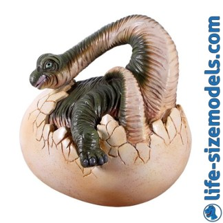 Baby Brachiosaurus Hatching Model