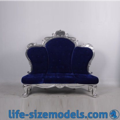 Grand Deluxe Throne Blue & Silver