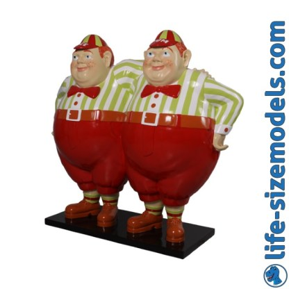 Tweedle Dee & Tweedle Dum 3D Alice In Wonderland Figures