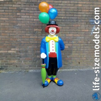 Clown Figure 3D Realistic Advertising Figure