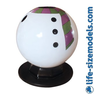 Snowman Photo Pod 3D Realistic Life Size Model