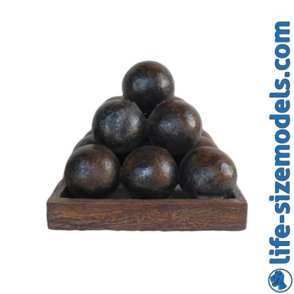 Cannonball Pyramid 3D Realistic Lifesize Model