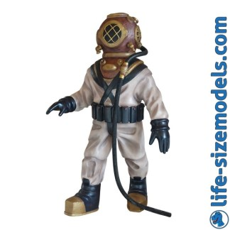 Deep Sea Diver Figure 3D Realistic Lifesize Model
