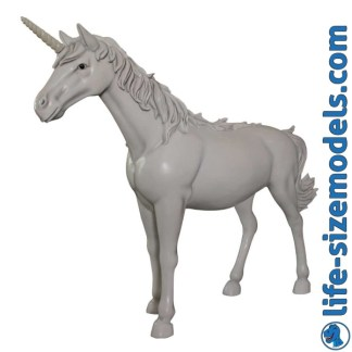 Unicorn Statue 3D Realistic Lifesize Model