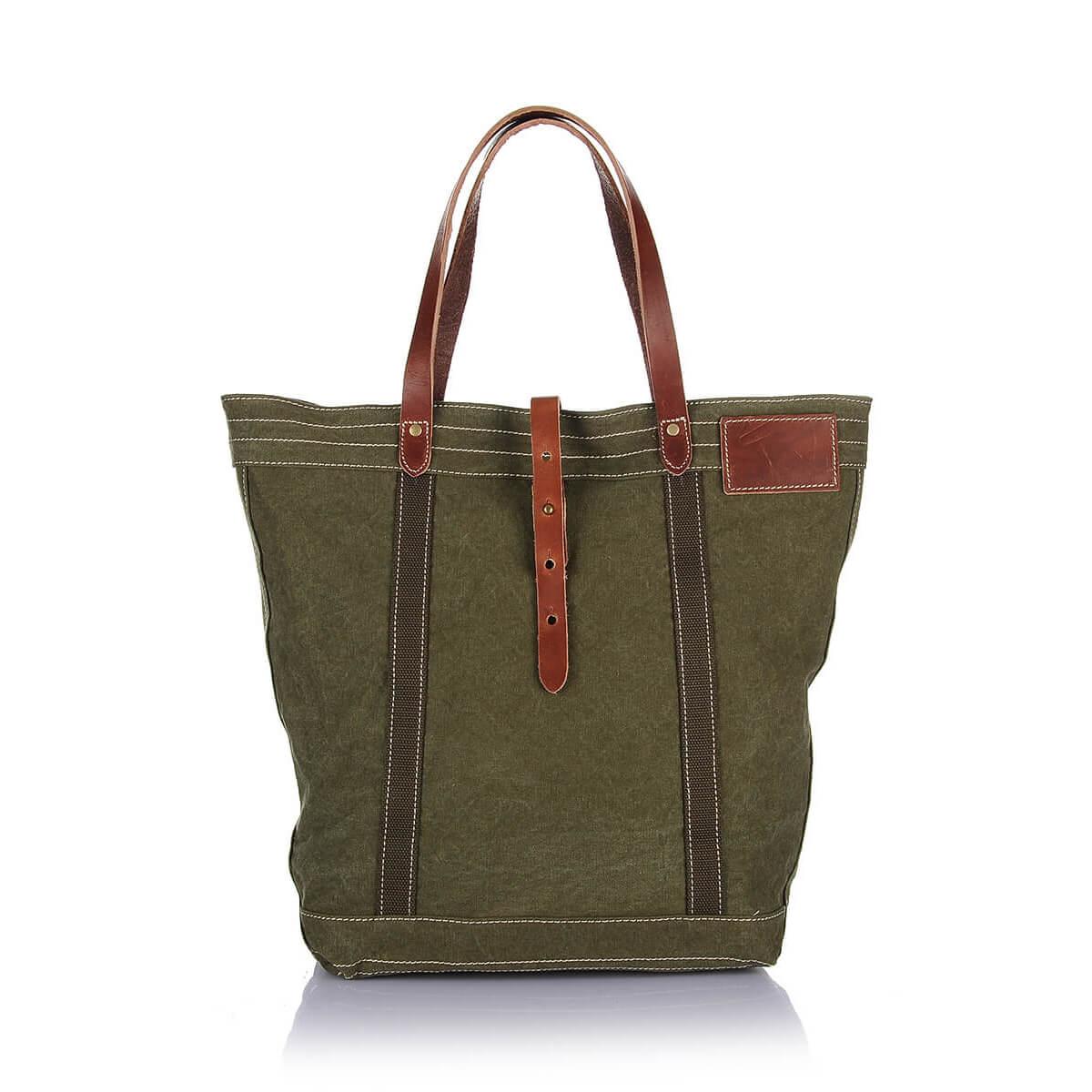 7e09390a9 Classic Durable Heavy Cotton Washed Canvas Tote Bag Shoulder Handbag ...