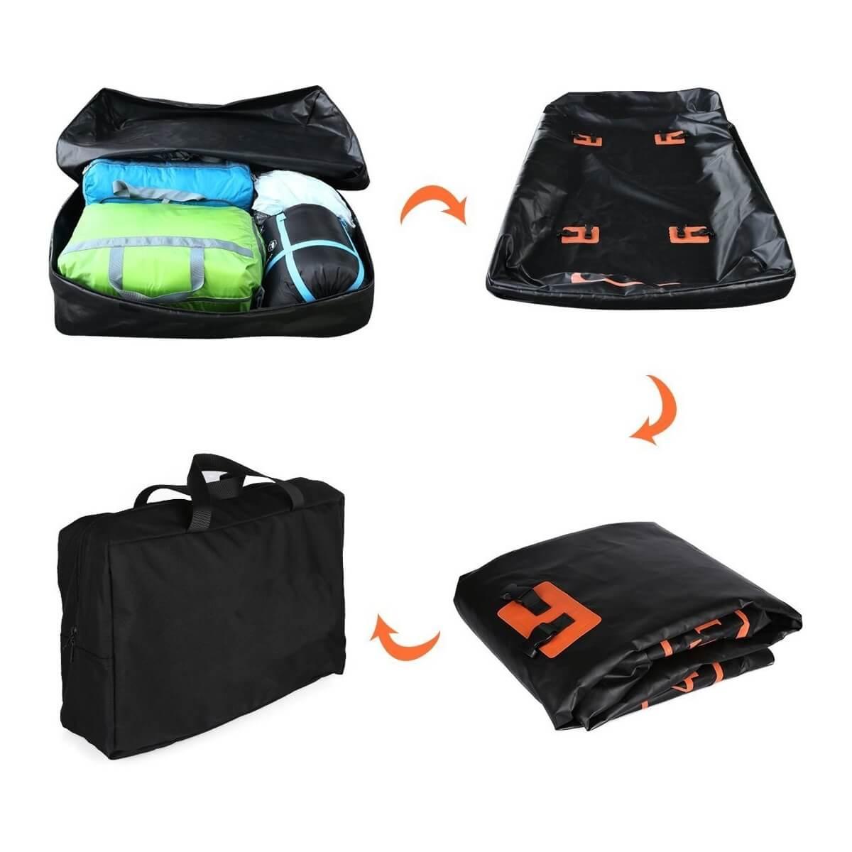 Waterproof Cargo Carrier Bag Roof Top Bag Soft Top Roof Bag Car Ro