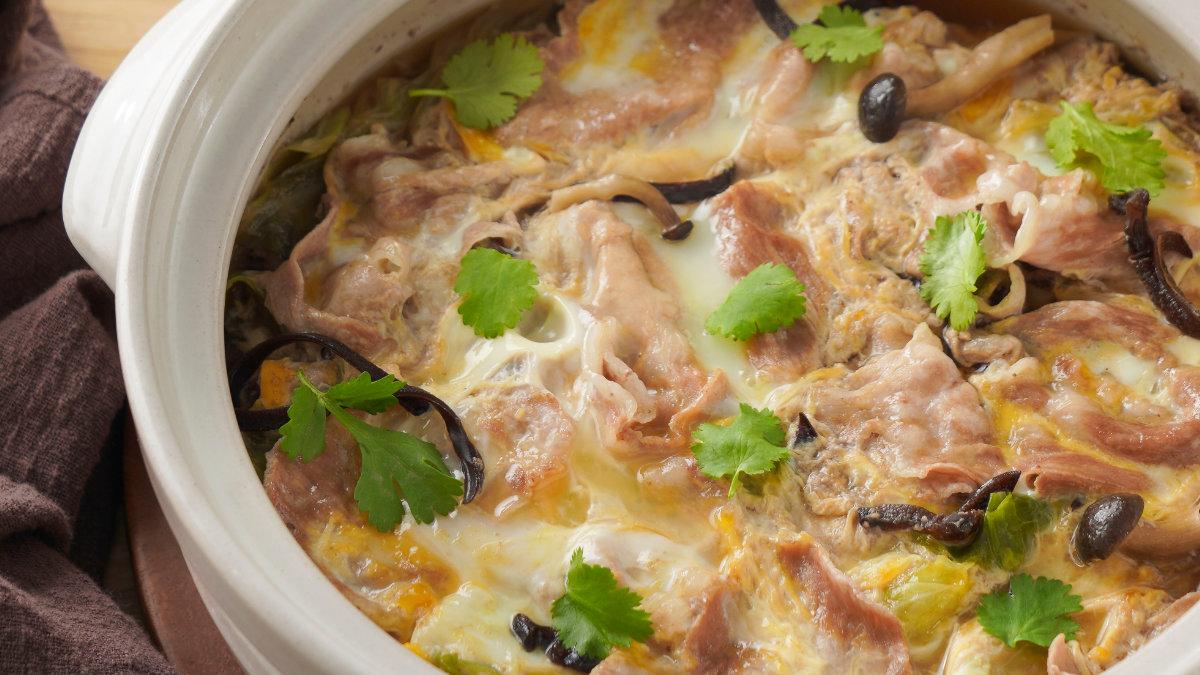 日式豬肉湯-豚汁-玉子鍋