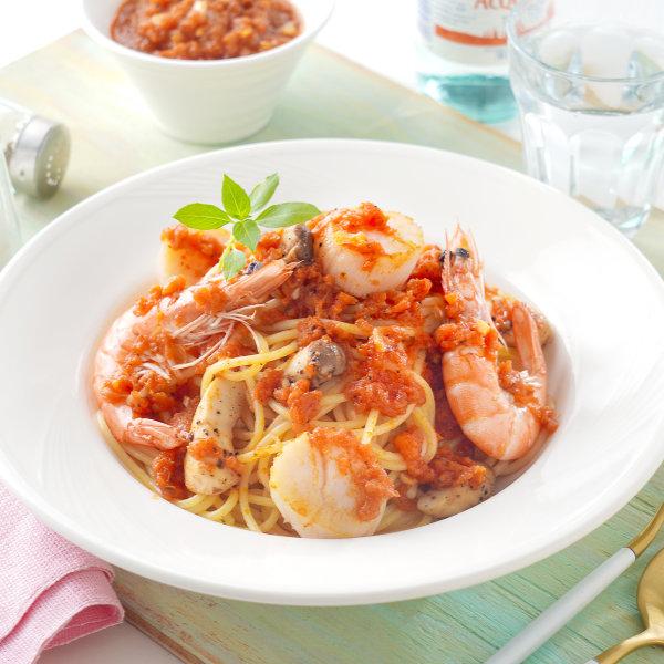 義大利麵料理-海鮮紅醬