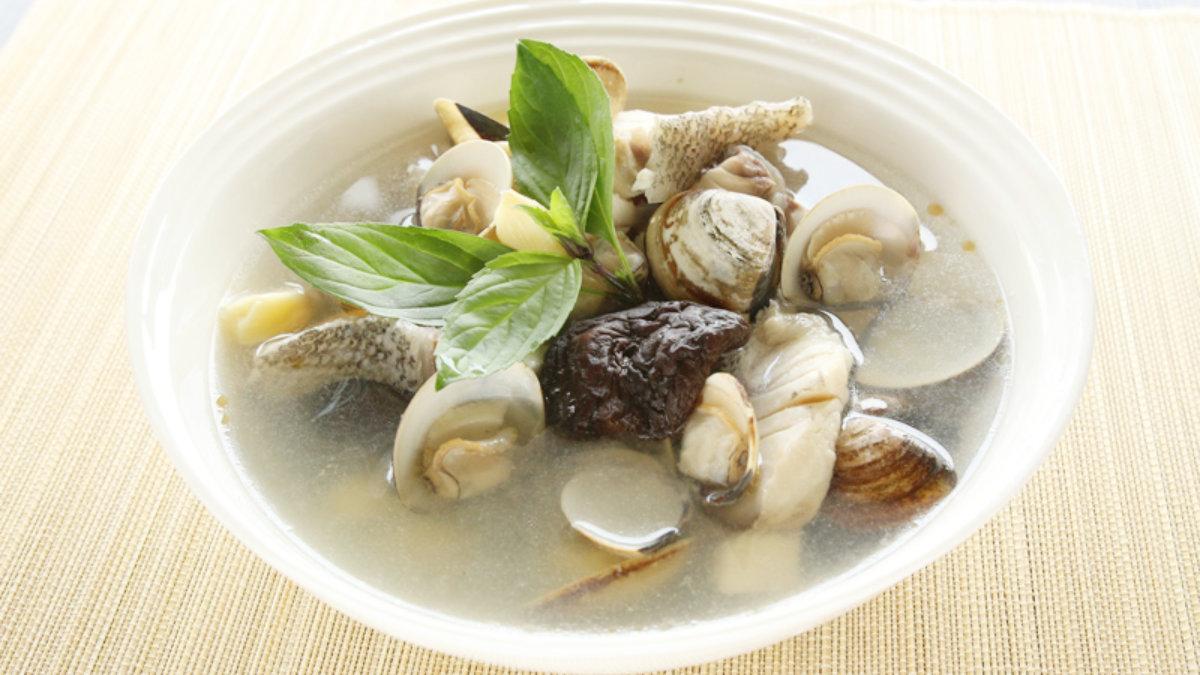 蛤蜊石斑魚湯