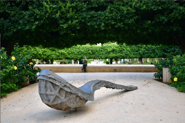 "UK artist Thomas Houseago's ""Spoon"" is part of Samir Abillama's private collection"