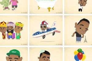 Illustratsioonid teemal beebi-Kanye West on su uus lemmik asi internetis