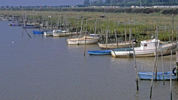 Bateaux sur le Lay. Port de l'Aiguillon-sur-Mer