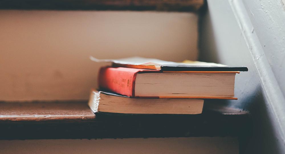 books on stairs / deathToTheStockPhoto