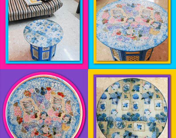 Decoupage Table Cool Craft Ideas For Home Decor
