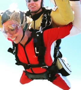 Samantha Walsh skydiving