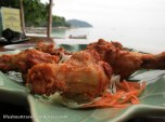 fried chicken at the sunset beach