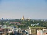 Shwedagon Pagoda, view from Sakura Tower