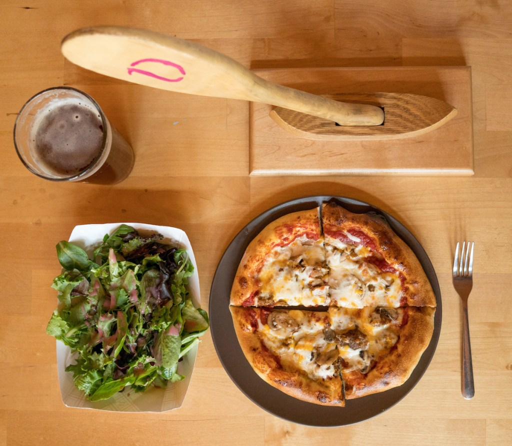 Salad, beer, pizza and a paddle at the Rivers Eatery