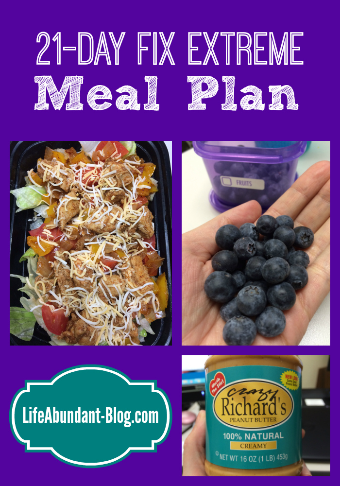 21-Day Fix Extreme Meal Plan