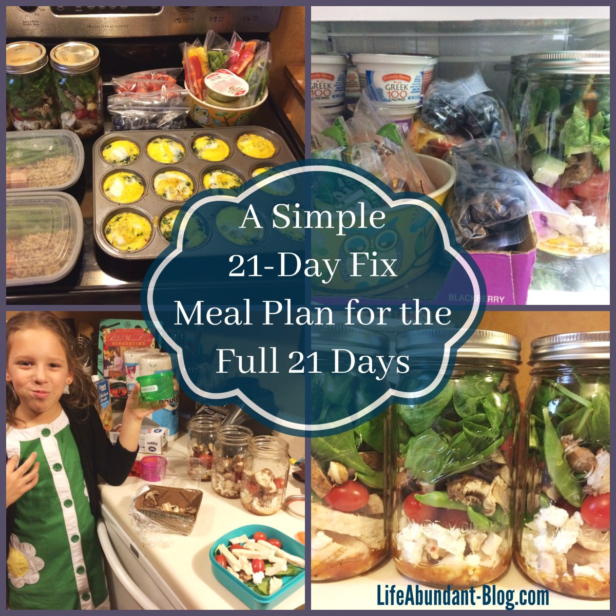 A Simple 21-Day Fix Meal Plan for the Full 21 Days