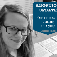 Adoption Update: Our Process of Choosing an Agency