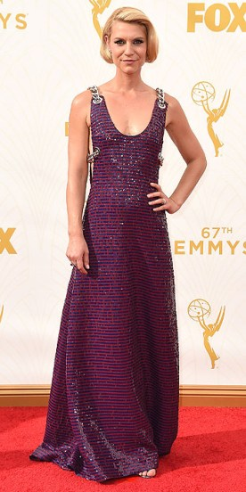 LOS ANGELES, CA - SEPTEMBER 20:  Actress Claire Danes attends the 67th Annual Primetime Emmy Awards at Microsoft Theater on September 20, 2015 in Los Angeles, California.  (Photo by Steve Granitz/WireImage)