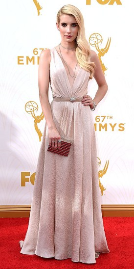 LOS ANGELES, CA - SEPTEMBER 20:  Actress Emma Roberts attends the 67th Annual Primetime Emmy Awards at Microsoft Theater on September 20, 2015 in Los Angeles, California.  (Photo by Steve Granitz/WireImage)