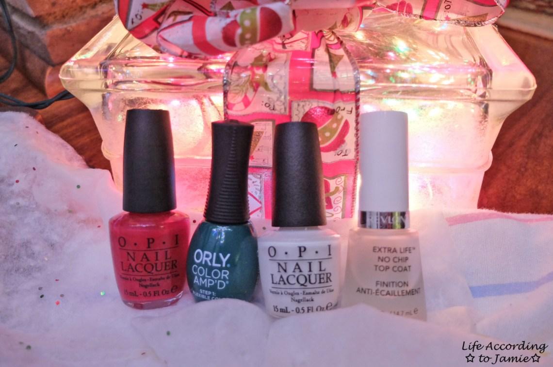 Christmas Polka Dot Nails