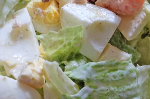 Pan-Fried Shrimp Salad