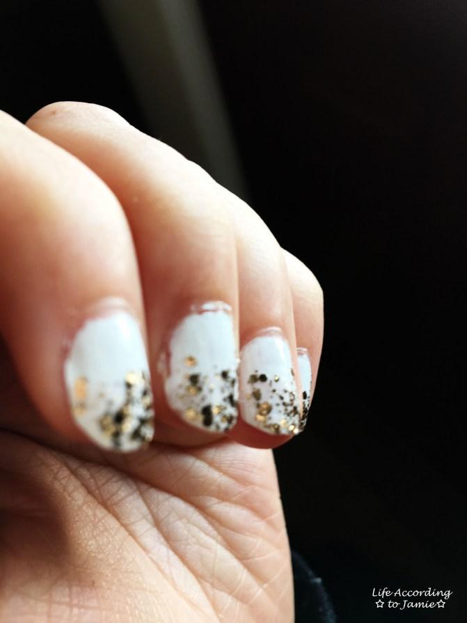 Gold & White Manicure 3