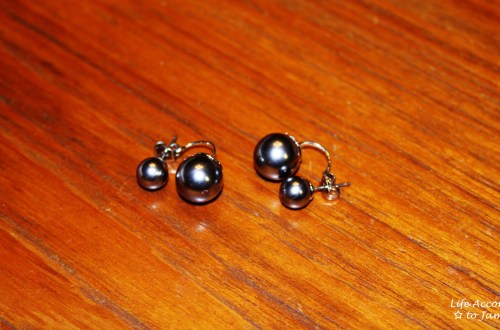 Suspended Double Pearl Earring