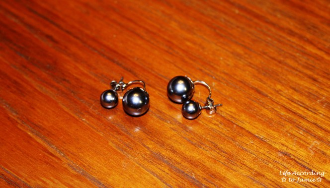 Suspended Double Pearl Earring 2