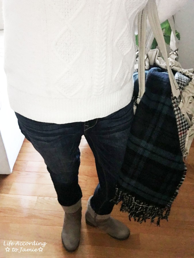 Cable Knit + Blanket Scarf 3