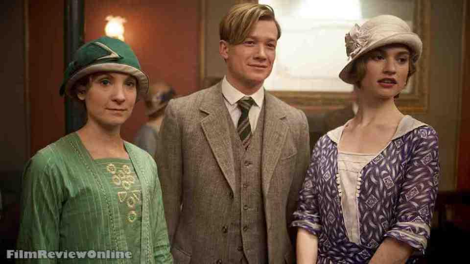 Downton Abbey, 402 - Joanne Froggatt, Ed Speleers and Lily James